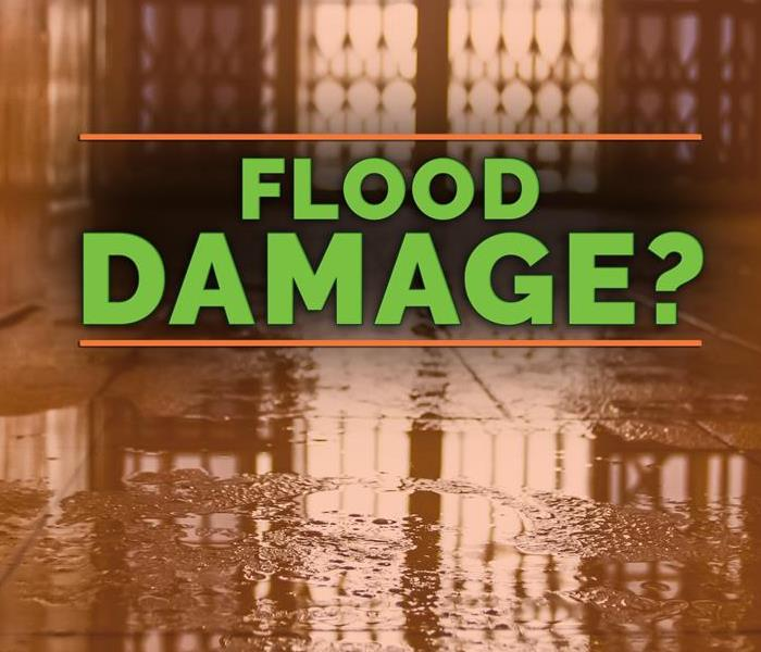 a graphic that says flood damage
