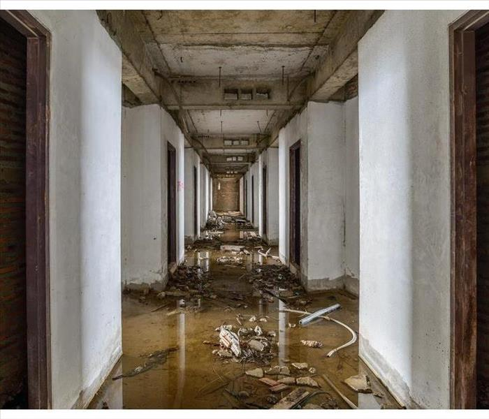 Inside of a flooded building